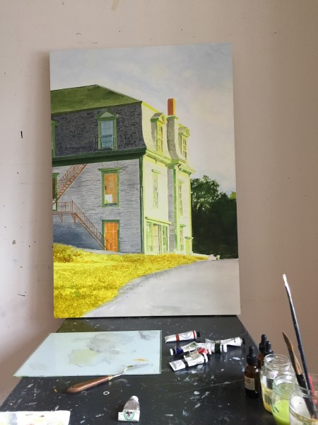 Hopper's House, in progress