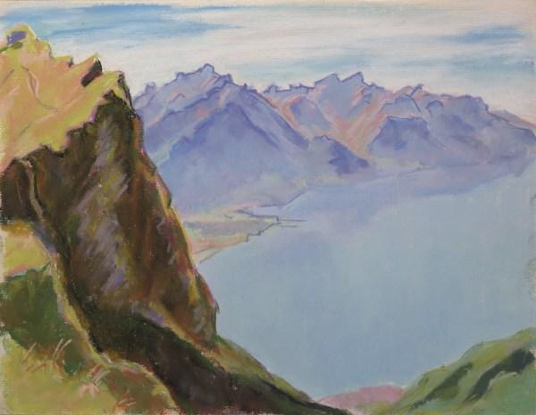 Le Haut-Lac depuis La Perche