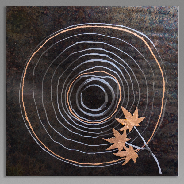 Growth Rings with Maple Leaf