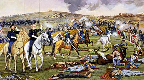 Battle of Nashville, December 14, 1864 (maquette)