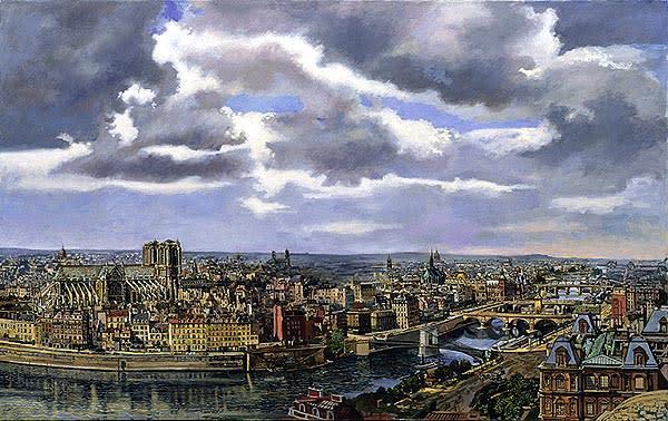 Paris and the Seine c. 1853