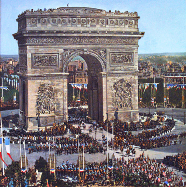 World War I Victory Parade at the Arch of Triumph