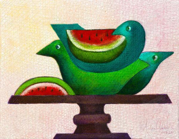 Aves de Sandia (Watermelon Birds)