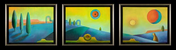 Tres Lunas (Three Moons) (Triptych)
