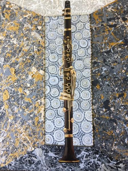 Clarinet in  a Mellow Joy Splattered Box
