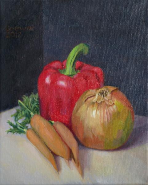Onion Pepper Carrots