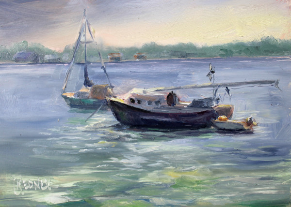 Morning Light  on the Boats