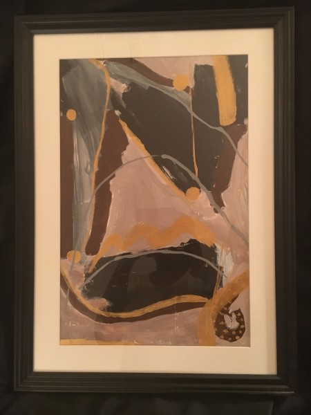 Untitled in Brown and Gold