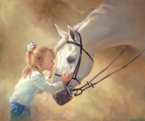 """3rd Place – Laurie Snow Hein - """"Horse Kisses"""" – www.lauriesnowhein.com"""