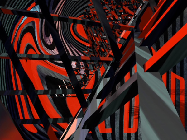 """3rd Place – Overall - Athalie Taylor - """"Abstract in Red, Grey and Black"""" – www.artboja.com/art/eka9sg"""