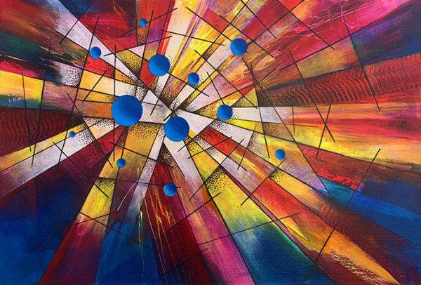 """4th Place – Overall - Richard Mittelstadt - """"Pinball Blues"""" – www.mittelstadtartworks.com"""