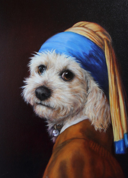 """6th Place – Elise Leslie-Allen - """"Girl with Pearl Collar"""" – www.gallery247.com.au"""