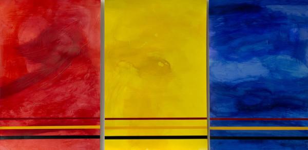 "6th Place – Overall - Chuck Jones - ""Underscoring a Primary Conflict - Triptych"" – www.chuckjonesphd.com"
