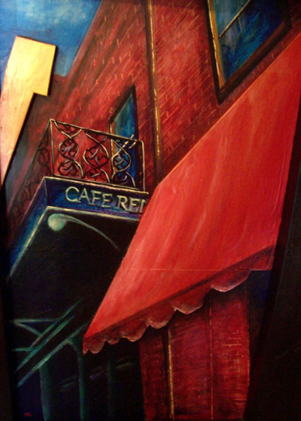 """8th Place – Overall - Maria Gedroc - """"Red Canopy"""" – www.mariagedrocart.weebly.com"""