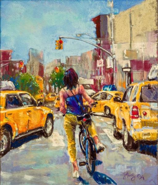 "4th  Place – Jeri Greenberg - ""Red Light, Stop"" – www.jerigreenbergart.com"