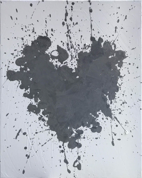 Love Explosion Gray on White