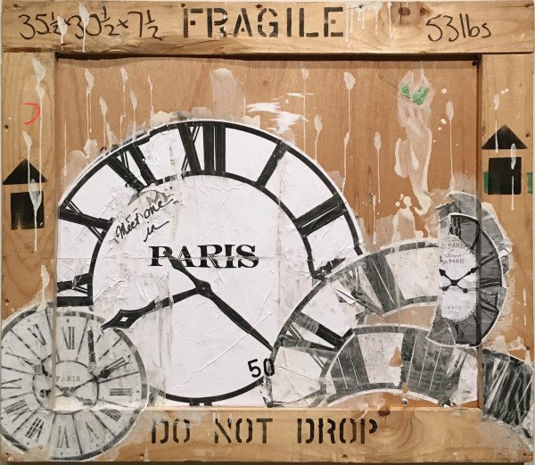 Meet me in Paris (Clock) on Crate