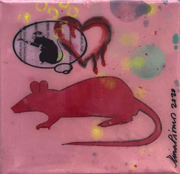 Rat Dreams of Banksy Pink on Pink G