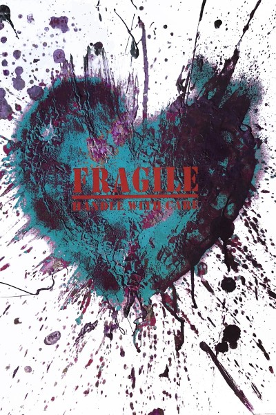 heART Teal Fragile Handle with Care