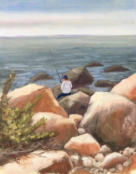 Casting Among the Colorful Rocks, Meig's Point, Hammonassett, Madison, CT