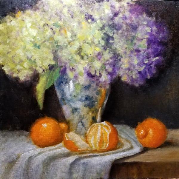 Hydrangeas and Oranges