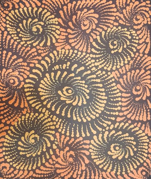 "MariaB 002 ""Flying Ants"" ~ Maria Nampijinba Brown, Yuendumu, NT"