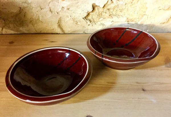Red Porcelain Bowl (small)