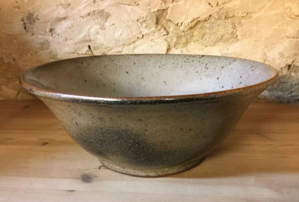 Stoneware Bowl with Carbon Shino Glaze