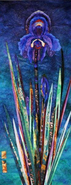 Peaceful Iris at Night (Framed Original)