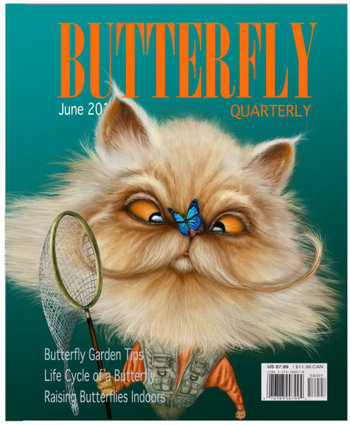"""If Only a Real """"Butterfly Quarterly"""" (Framed)"""