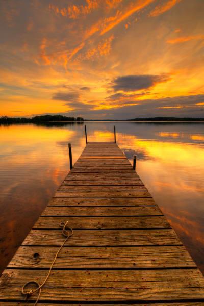 Dock at Sunrise (Framed Photograph)
