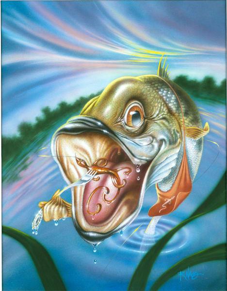 Largemouth Bass (Framed)