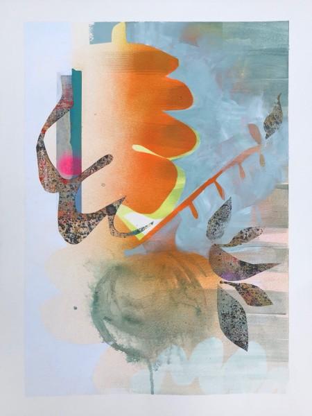 Sideways Shift in a Cloudy Patch (Framed Original)