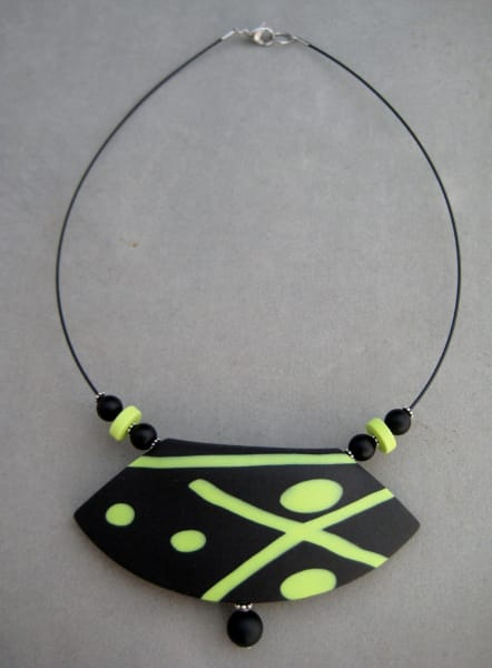 Black/Lime Green Necklace