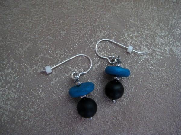 Blue/Onyx Earrings