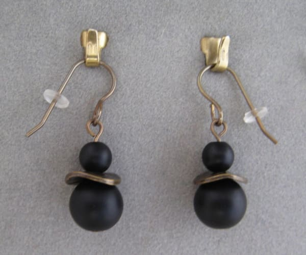 Antique Gold/Onyx Earrings
