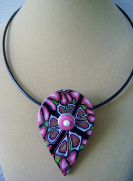 Pink/Lime/Pearl Necklace