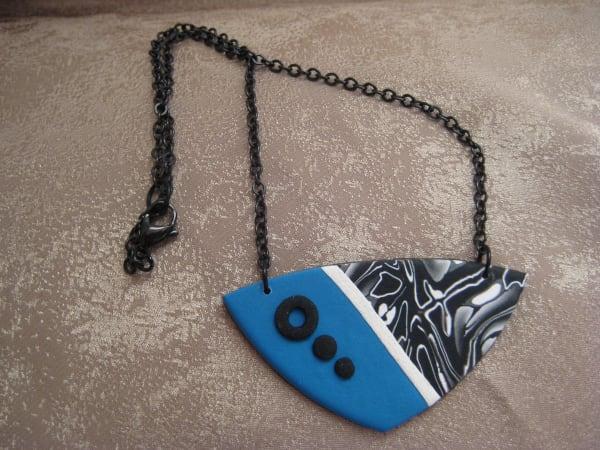 Blue/White/Black Necklace