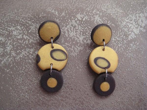 Gold/Brown Earrings