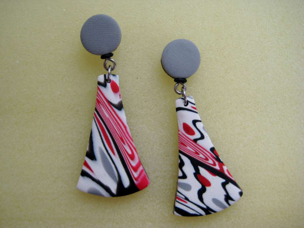 Red/White/Black Earrings