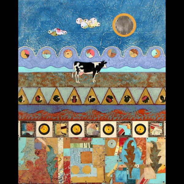 Cow and the Moon (Unframed Print)