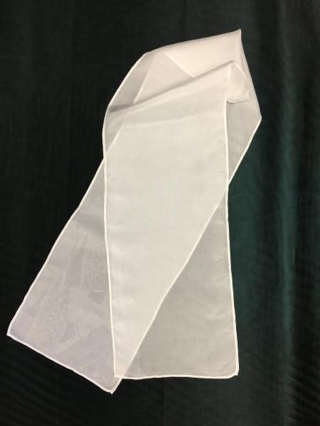 White on White I (Silk Scarf)