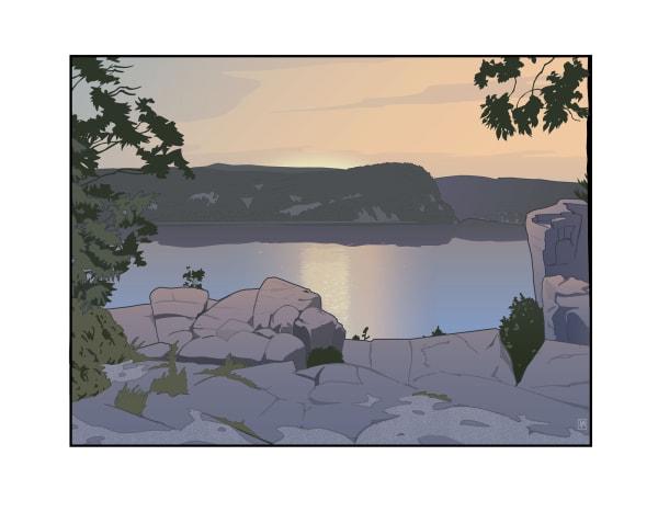 Devil's Lake Sunrise (Unframed print)