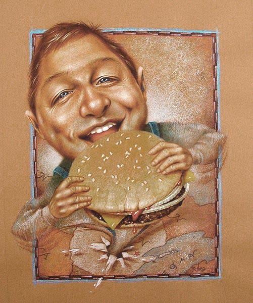 First Hamburger (Framed Original)