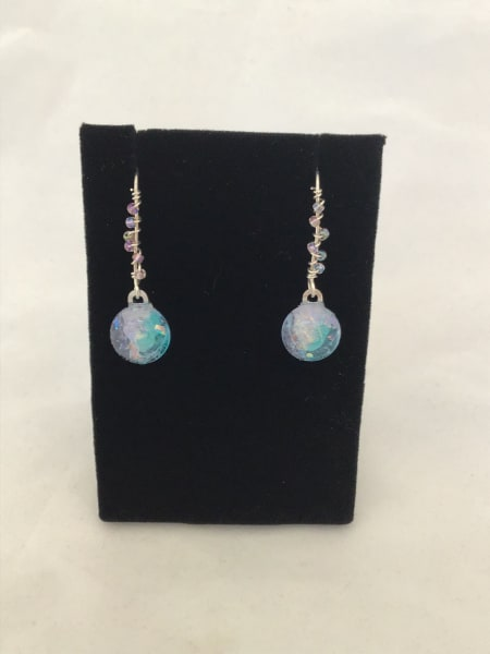 Beaded Wire Drop Earrings (click for more color options)