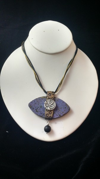 Purple and Antique Gold Necklace