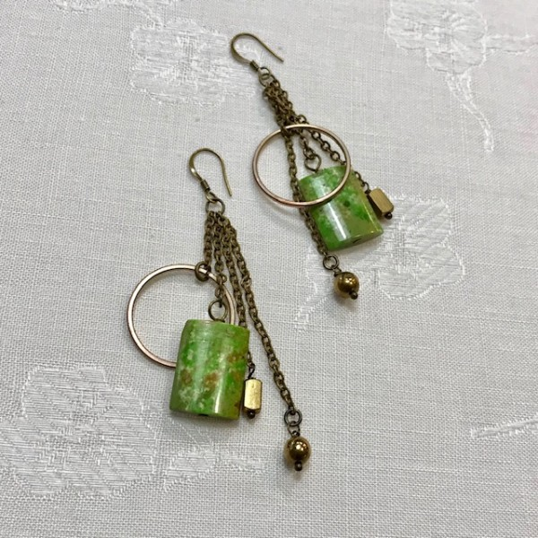 Lime Turquoise Earrings