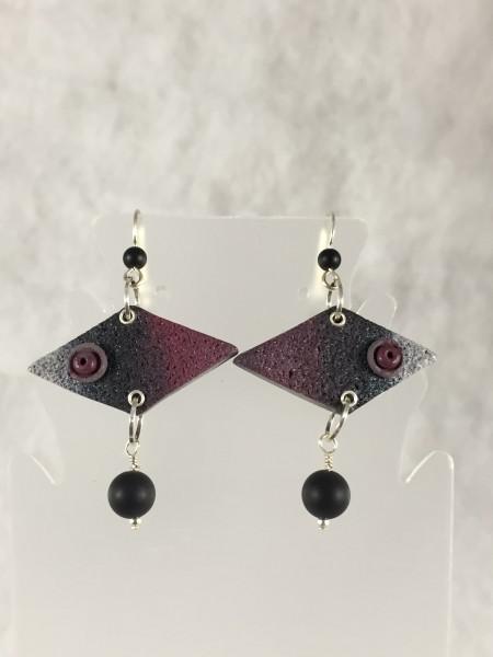 Purple/Silver earrings