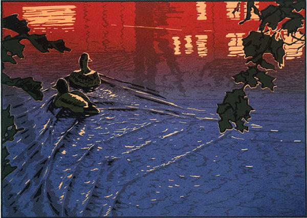 Nightlife (Framed Screen Print)