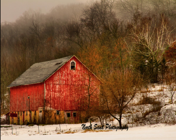 Winter Barn (Unframed, Matted)
